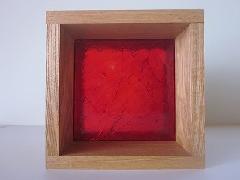 板ガラスブロック レッド 15cm