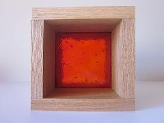 板ガラスブロック レッド 10cm