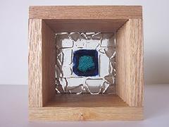フロート板ガラスブロック デザイン(四角)タイプ 10cm