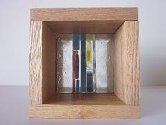 フロート板ガラスブロック デザイン(縦柄)タイプ 10cm