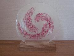 琉球飾りガラス(ピンク模様)