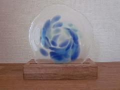 琉球飾りガラス(ブルー柄)