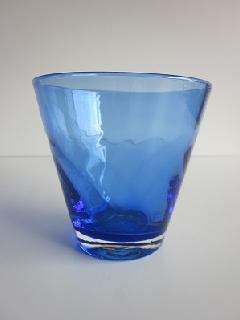 琉球グラス「ちゅらさんグラス」青