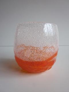 琉球グラス「泡でこたるグラス」オレンジ