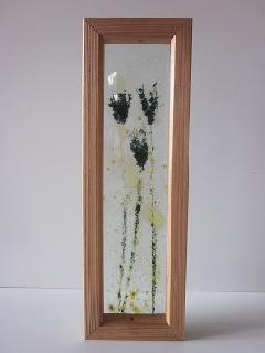 �Hガラス引手(ブラック紫ひげ芝)透明ガラス