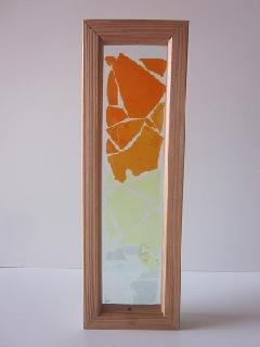 �Aガラス引手(オレンジ系グラデーション)