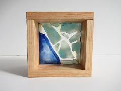 フロート板ガラスブロック 青色+緑色 10cm