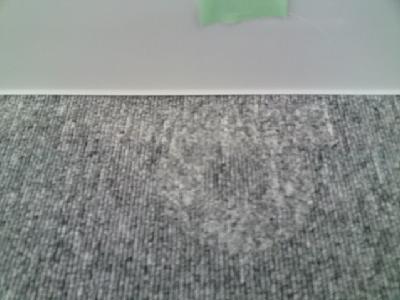 潰れたカーペットの毛