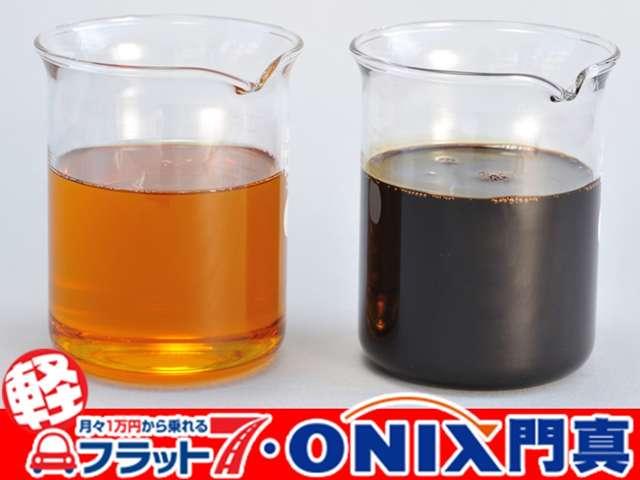 軽自動車リースのフラッット7オニキス大阪門真店では純正オイルを使用しています。