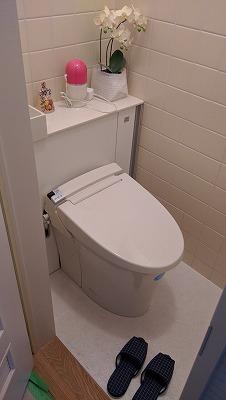 トイレの完成後です。
