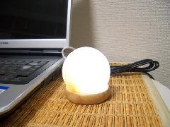パワーストーン(ヒマラヤ岩塩)ランプ ホワイト ラウンド型(送料込)