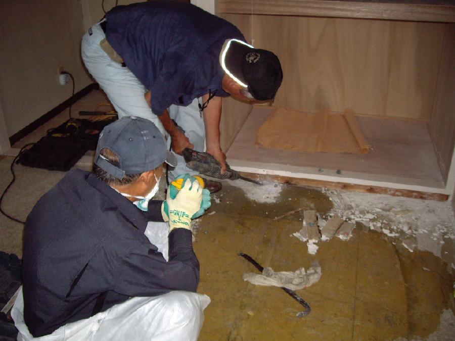 床の特別清掃