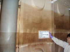 大型受水槽の清掃