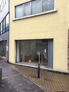 大阪府 茨木市 壁面看板、ガラス面シート撤去
