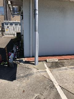 袖看板の支柱補強工事 神奈川県横浜市