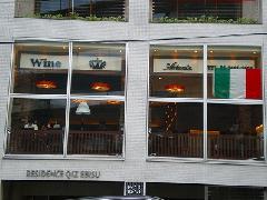 飲食店のガラス面フィルム 東京都 恵比寿 イタリアンレストラン
