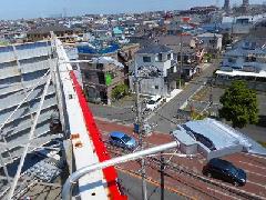 屋上広告塔の投光器交換 神奈川県 座間市