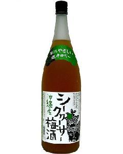 新里 シークヮーサー梅酒 12°1800ml