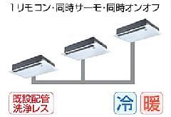 東芝 天井カセット形1方向吹出しタイプ ASEC22455M