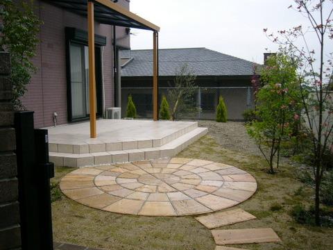テラスの庭