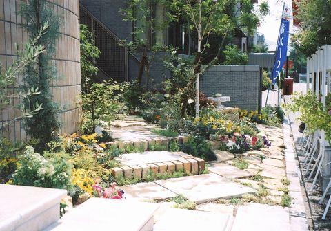 敷地南東の前庭