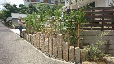 延石は古代もの約20�p角