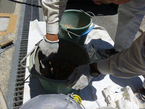 樹脂洗い出し舗装  (土間補修 リンクストーン 土間デザイン)大阪