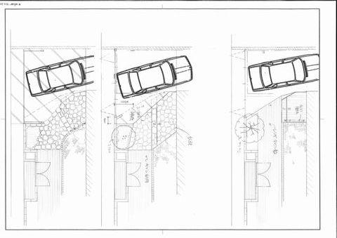 玄関ポーチの形状変更 (ポーチデザイン 自然石張り 乱張り 赤い石)豊中市