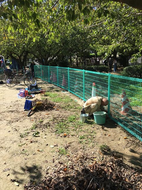 白鷺公園フェンス設置工事(堺市東区)