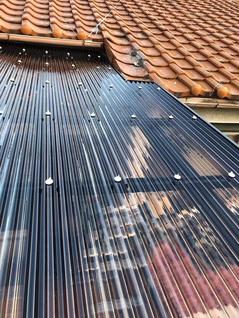 鋼製フレームにバルコニー+テラス屋根