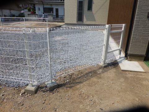 簡易フェンス工事 メッシュフェンス 間仕切り