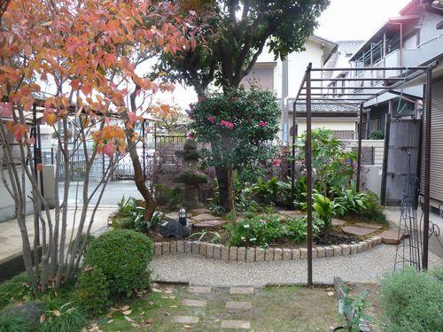 外構・エクステリア施工例>主庭(メインガーデン)について…  (菜園 芝庭 ローメンテナンス 雑木の庭  DIY)