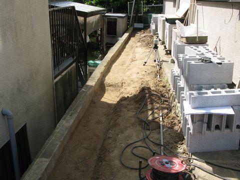 RC擁壁と外構リフォーム(外構計画〜施工) 手描きパース