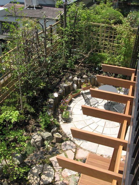 緑丘 雑木の庭    (バーベキューコーナー ウリンデッキ ティーテラス)