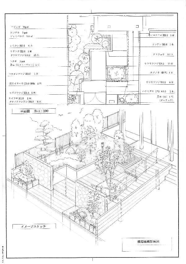 植栽計画  (植栽提案堺 植栽計画 植栽カラーリング カラーリーフ)