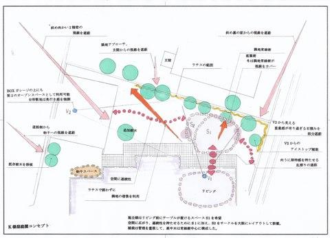 カフェテラスの庭リフォーム (庭園計画〜施工)