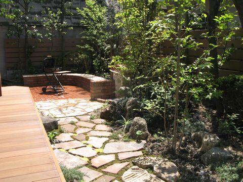 緑丘 雑木の庭(バーベキューコーナー ウリンデッキ ティーテラス)