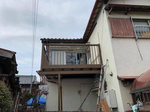 腰高窓から掃出窓へバルコニーリフォーム(岸和田市)