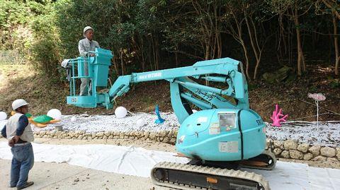 ロープ式高枝切鋏 (高木剪定 植木管理 樹木剪定 庭園管理)
