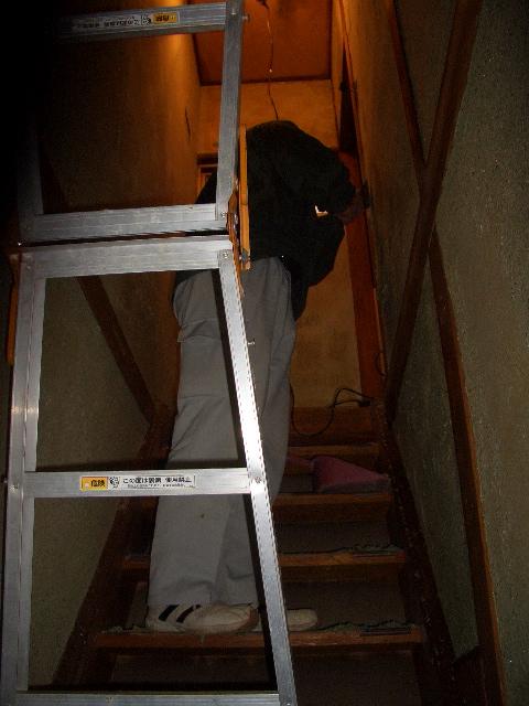 階段-施工中