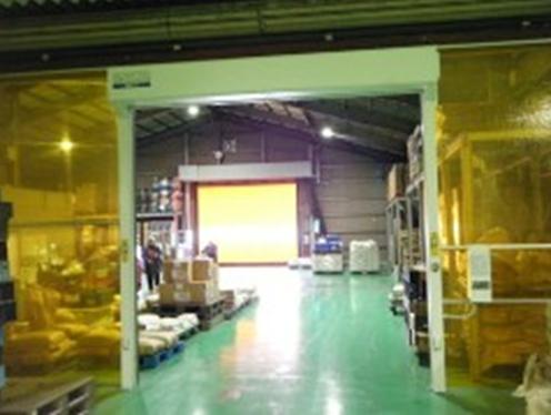穀物会社 シートシャッター設置工事