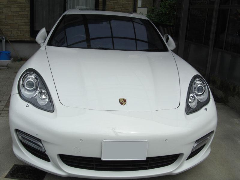 フロントガラス 飛び石修理 Porsche:ポルシェパナメーラ