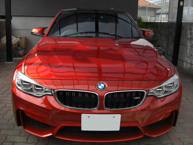 フロントガラス 飛び石修理 BMW M3