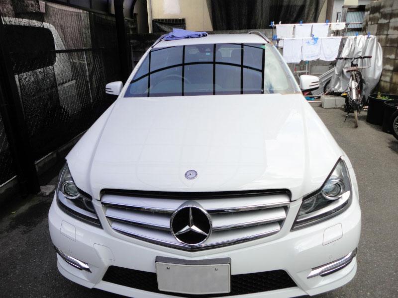 フロントガラス交換 飛び石・ヒビ Mercedes Benz:メルセデス・ベンツ Eクラス