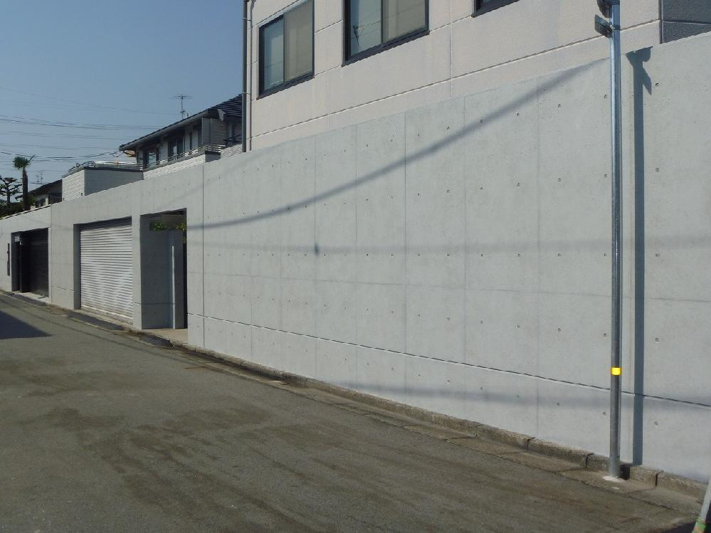 外塀改修工事 西宮市