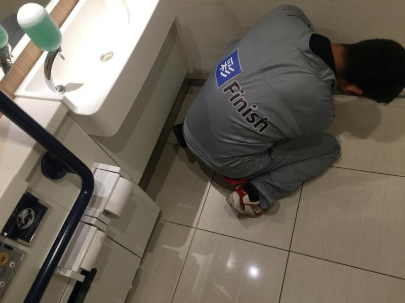 多目的トイレ滑り止め対策