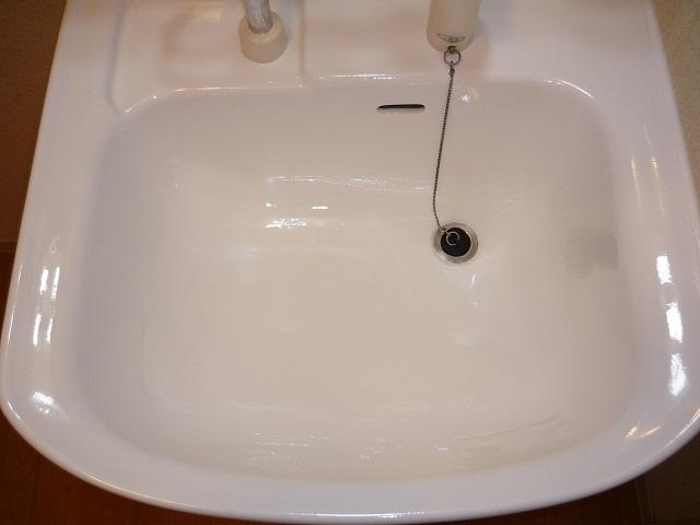 洗面補修、カラーコーティング施工福島県(郡山市)