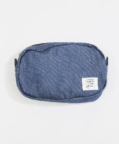 ポケット付きポーチ リジットデニム/インディゴ