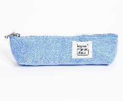 K036  カラーデニムペンケース  ブルー