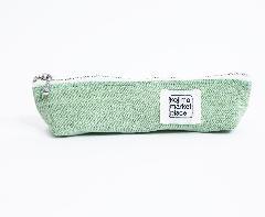 K036  カラーデニムペンケース  グリーン